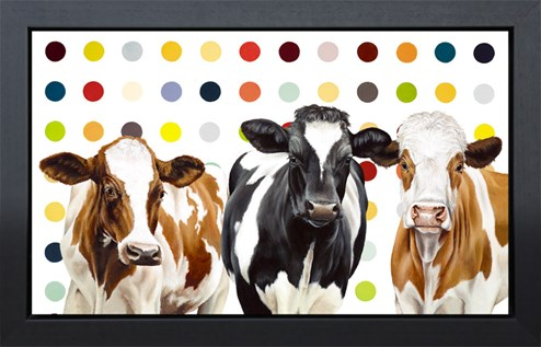 Damien's Herd by Hayley Goodhead - Framed Hand Finished Limited Edition on Canvas
