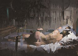 Reclining Nude by Christian Hook - Limited Edition Canvas on Board sized 24x17 inches. Available from Whitewall Galleries